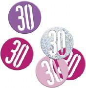 Pink Glitz 30th Confetti