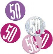 Pink Glitz 50th Confetti