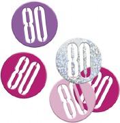 Pink Glitz 80th Confetti