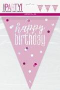 Pink Glitz Birthday Bunting