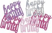 Pink Glitz Birthday Confetti