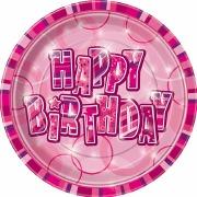 Pink Glitz Party Plates