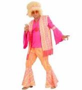 Pink Hippie Man Costume