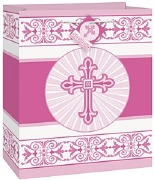 Pink Radiant Cross Gift Bag