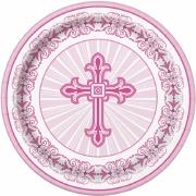 Pink Radiant Cross Plates