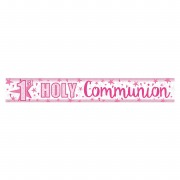 Pink Star Communion Banner