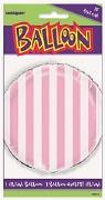 Pink Striped Foil Balloon