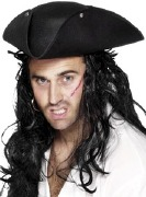 Pirate Tricorn Black Felt Hat