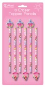 Princess Eraser Topped Pencils