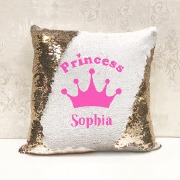 Princess Magic Sequin Cushion