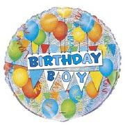 Prismatic Birthday Boy Balloon