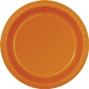 Pumpkin Orange Plastic Plates
