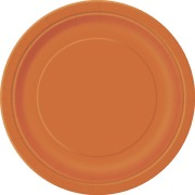 Pumpkin Orange Paper Plates