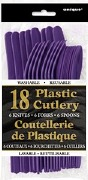 Purple Cutlery 18 Pack