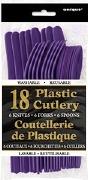 Purple Cutlery 18 Pack