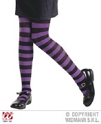 Purple Kids Striped Tights