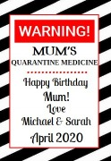 4Pk Quarantine Medicine Labels