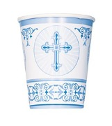 Radiant Cross Blue Cup