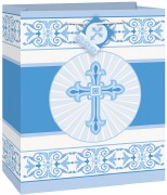 Radiant Cross Blue Gift Bag