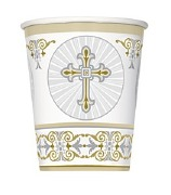 Radiant Gold Cross Cups