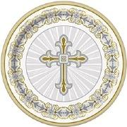 Radiant Gold Cross Plate