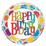 Rainbow Dots Birthday Balloon
