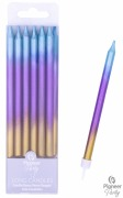 Rainbow Ombre Candles