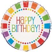Rainbow Birthday Foil Balloon