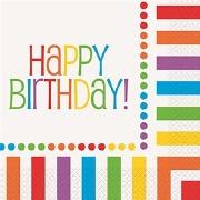 Rainbow Birthday Napkins