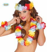 Rainbow Lei Hawaiian Set