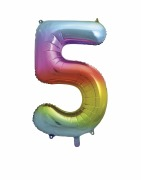 Rainbow No 5 Foil Balloon