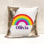 Rainbow Sequin Cushion