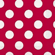 Red Dots Paper Napkins