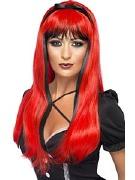 Red Halloween Wig