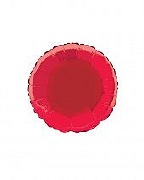 Red Round Foil Balloon