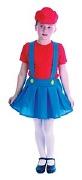 Red Plumber Girl Costume