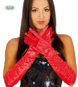Gloves Red Satain
