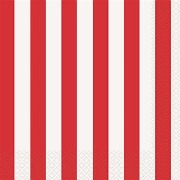 Red Stripe Napkins