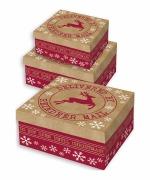 Reindeer Set Of 3 Boxes