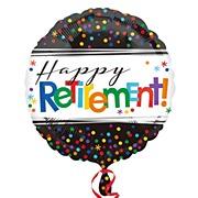 Retirement Dots Foil Balloon