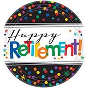 Retirement Party Plates