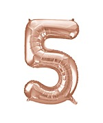 Rose Gold Number 5 Balloon