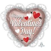 Rose Gold Valentines Balloon