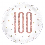 Rose Gold 100th Foil Balloon