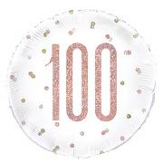 Rose Gold 100th Foil Balloon