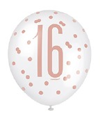 Rose Gold 16th Balloons