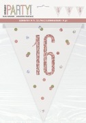 Rose Gold 16th Bunting