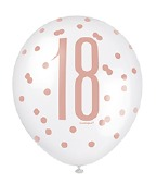 Rose Gold 18th Balloons