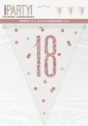 Rose Gold 18th Bunting