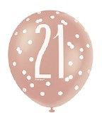 Rose Gold 21st Balloons